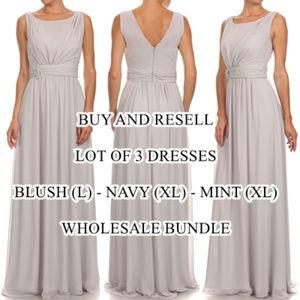 "Lot of 3 Long Formal Dresses ""OSoSpecialO"" $400"